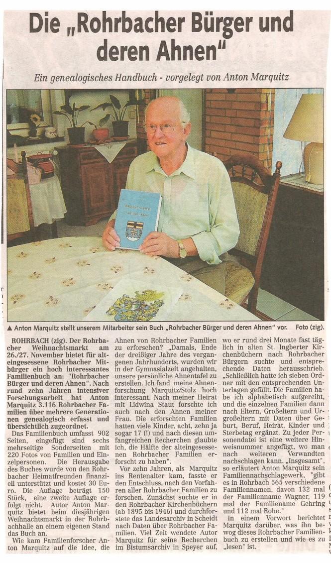2005 Anton Marquitz bei der Vorstellung seines Buches