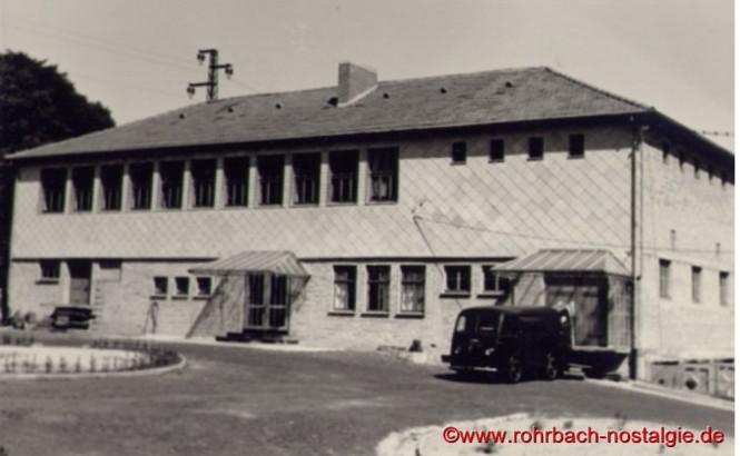 Die Produktionsstätte in der Oberen Kaiserstraße in Rohrbach