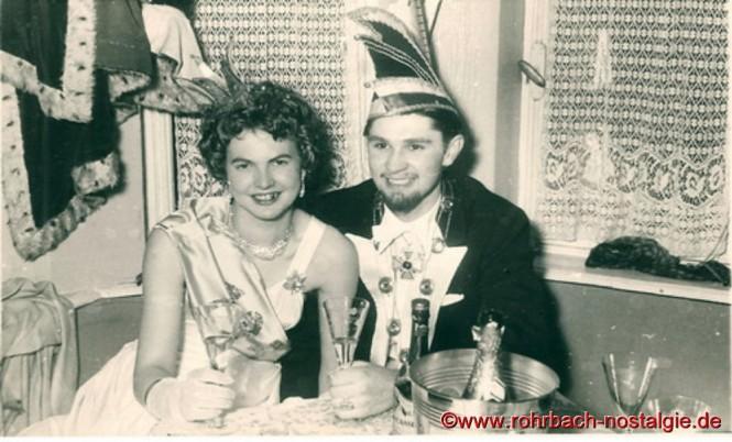 1956 Das Prinzenpaar Gerlinde Tillmanns und Manfred Staut