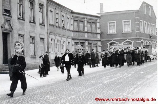 1955 Faasenachtsumzug im Ewwerdorf