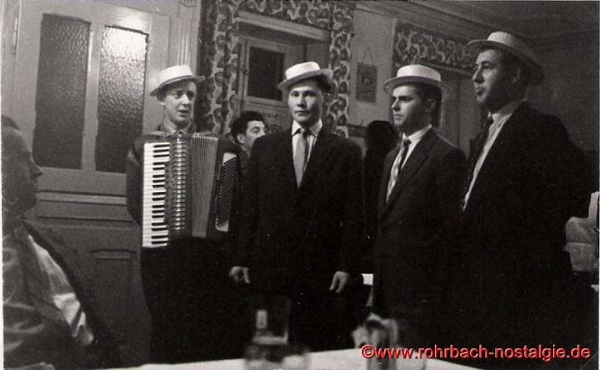 1957 Erster Auftritt der Bierkehlchen im St. Ingberter Lokal Ben Meiser in der Gartenstraße