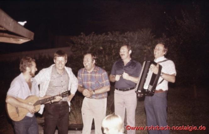 1978 Anlässlich des 40. Geburtstages von Günter Weiland kommen noch einmal alle ehemaligen Bierkehlchen zusammen und geben ein Privatkonzert