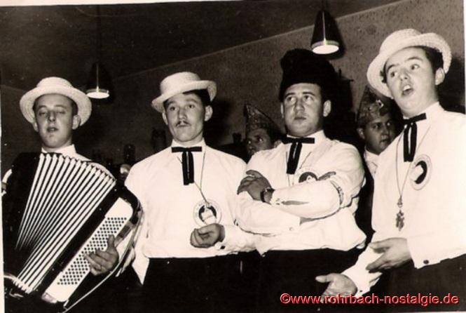 Von links: Gerhard Fuß (Charly), Albert Knoch (Schnorres), Richard Schmitt und Günter Weiland