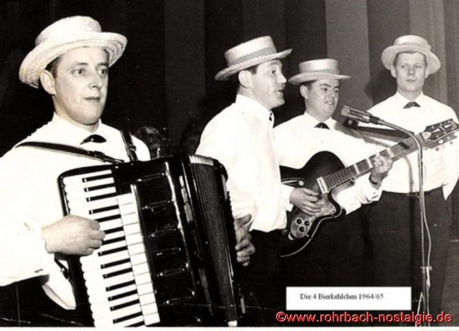 Ab 1963 neu im Quartett Günter Hermann rechts im Bild für Richard Schmitt