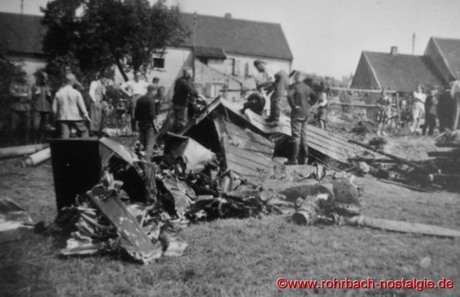 Das abgestürzte französische Flugzeug