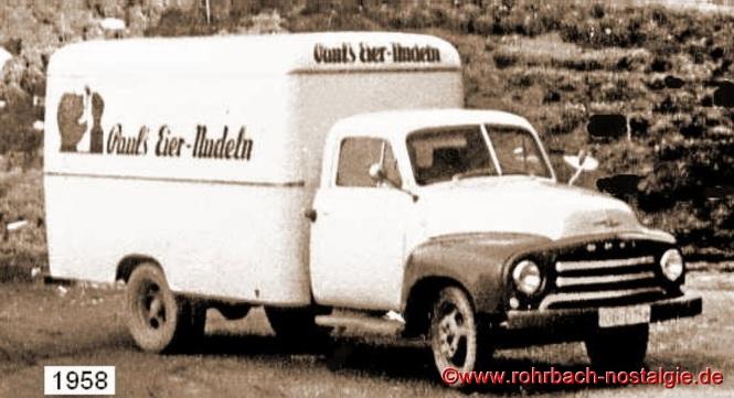 Der Firmen- Lkw OPEL Blitz im Jahre 1958