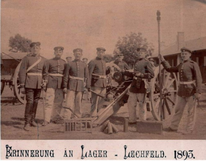 1893 - Jakob Jacob (rechts im Bild) beim Militär in Lager Lechfeld