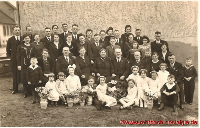 1941 - Feier der Goldenen Hochzeit mit allen Kindern und Enkeln
