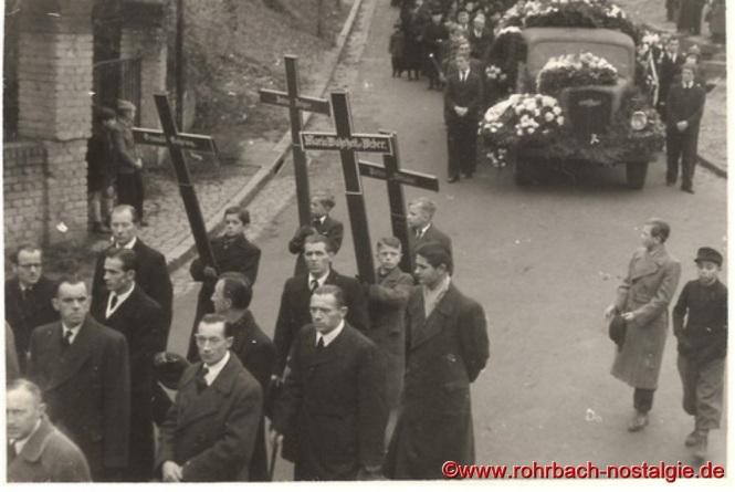 1948 Beerdigung der ertrunkenen Fußballer-15a