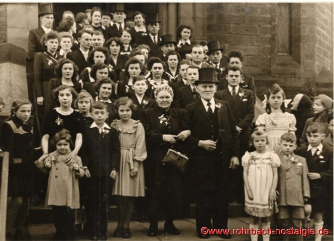 1951 - Die Hochzeitsgäste der Diamantenen Hochzeit