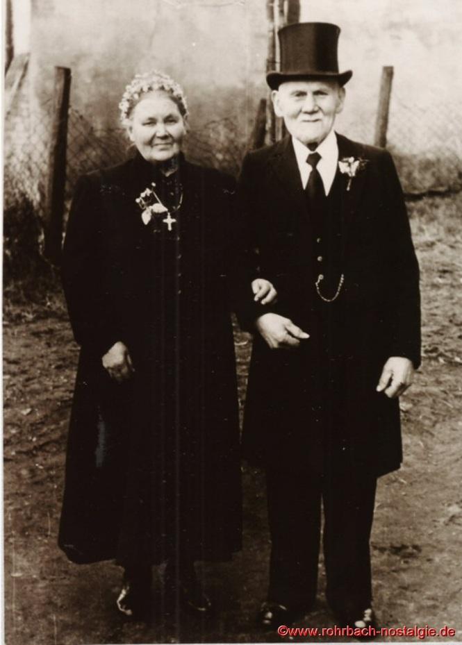 1951 - Diamantene Hochzeit von Jakob Jacob und seiner Frau Luise