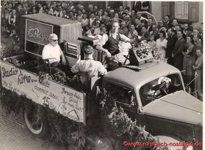 1949 Festzug 100 Jahre selbständige Gemeinde Rohrbach
