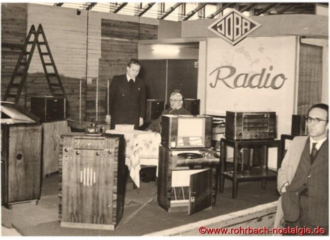 1955 Stand der Firma JOBA auf der Saarmesse in Saarbrücken
