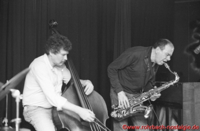1988 Bassist Günter Lenz und Saxofonist Heinz Sauer