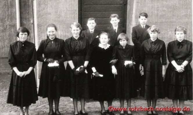 1955 Konfirmation in Rohrbach