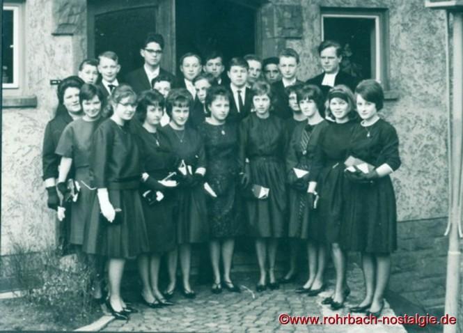 1963 Konfirmation in Rohrbach mit Pfarrer Hunsicker