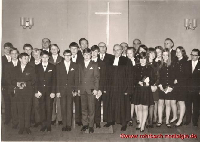 1970 Konfirmation in Rohrbach mit Pfarrer Rembe