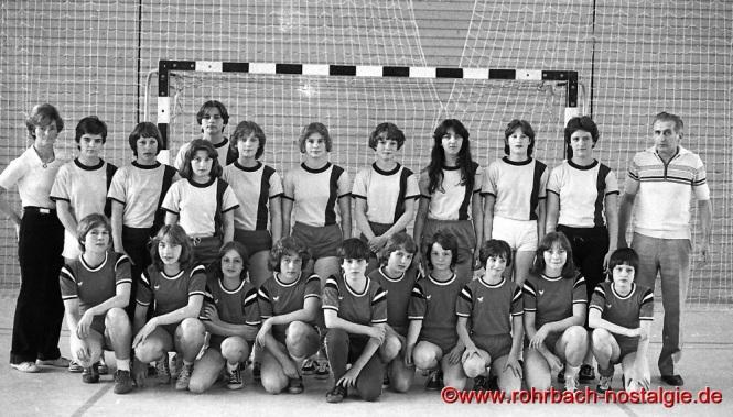 1978 Die neugegründete Mädchenmannschaft der SF Rotweiß