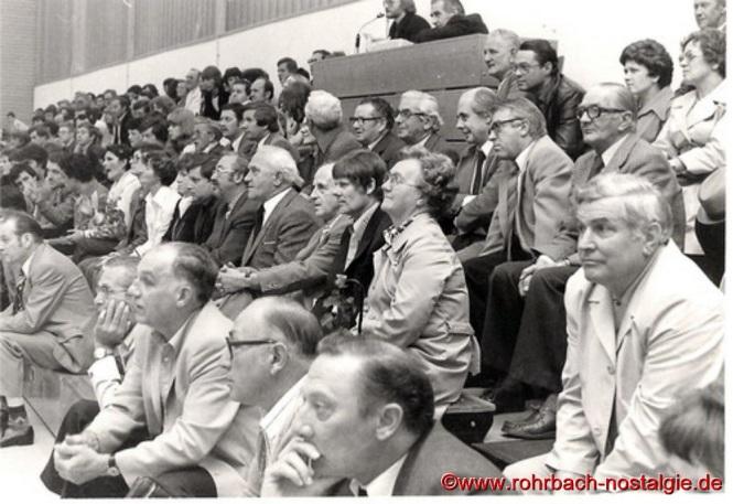 1978 Prominente Zuschauer bei einem internationalen Freundschaftsspiel gegen eine brasilianische Studentenauswahl aus Sao Paolo