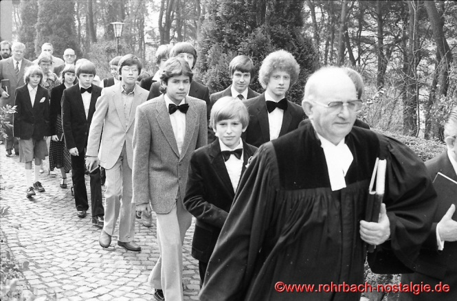 1980 Konfirmation in Rohrbach mit Pfarrer Rembe