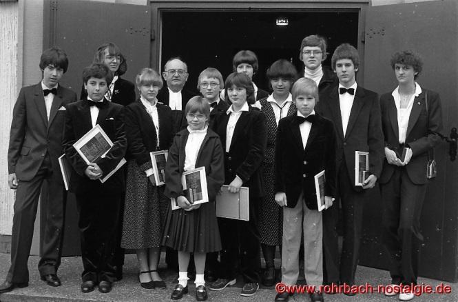 1981 Konfirmation in Rohrbach mit Pfarrer Rembe