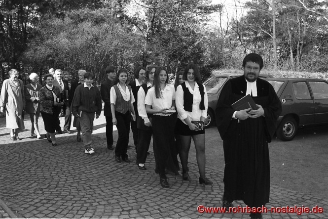 1996 Konfirmation in Rohrbach mit Pfarrer Christoph Stetzer