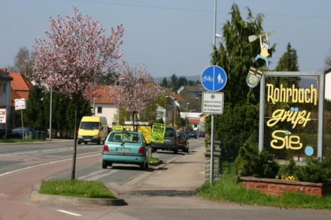 Ortseingang Rohrbach von Richtung Kirkel aus (Foto aus dem Jahr 2005) fotografiert von Walter Gehring