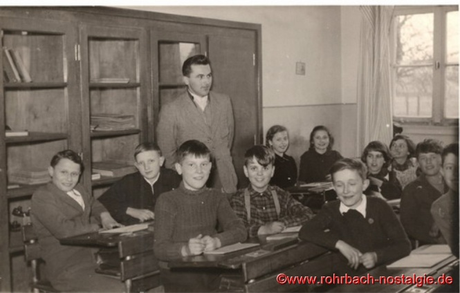 1952 Lehrer Alfred Weber in der Pestalozzischule