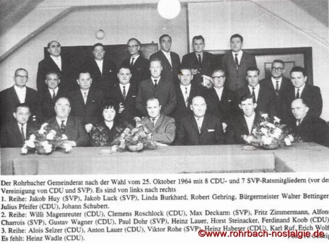 Der Gemeinderat im Jahr 1964