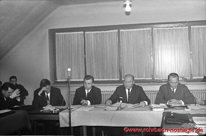 1965 Gemeinderatssitzung im Feuerwehrgerätehaus