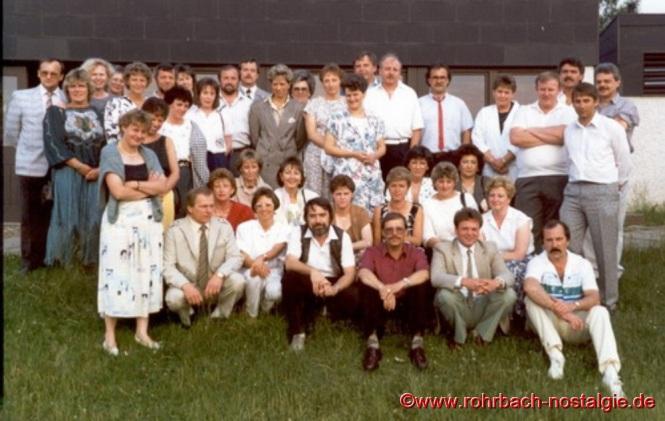 1988 Klassentreffen im Sportheim des SV Rohrbach in den Königswiesen