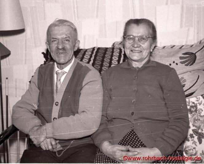 Friedrich Leiner und seine Frau Anna im Jahre 1970