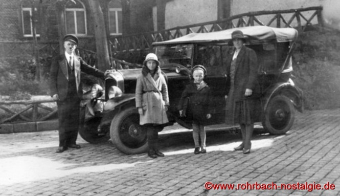 Um 1930 hat Friedrich Leiner schon einen eigenen PKW