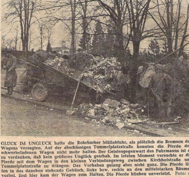 1964 Unfall beim Befahren der Tummelplatzstraße