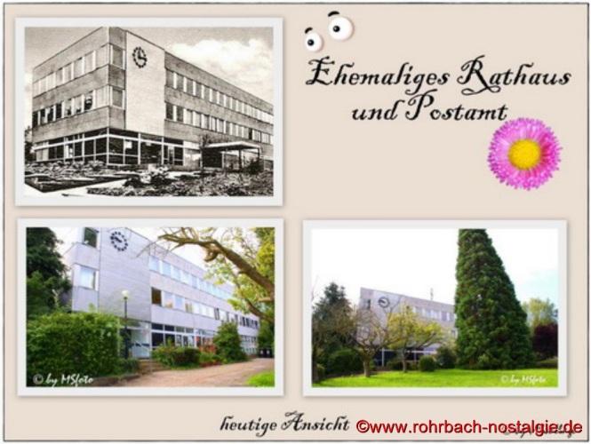 Das ehemalige Rohrbacher Rathaus in der Bahnhofstraße - heute Sitz der Verwaltung der Stadtwerke St.Ingbert. Von 1966 bis Ende 1973 Sitz der Verwaltung der Gemeinde Rohrbach