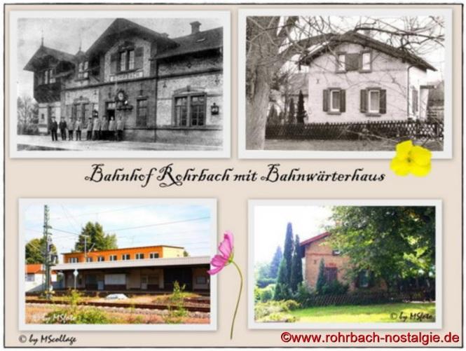 Bahnhof Rohrbach mit Bahnwärterhäuschen