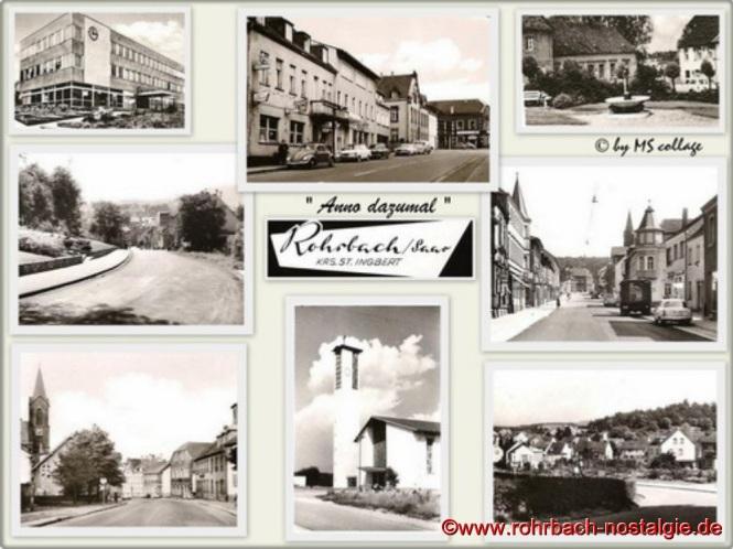 Die Rohrbacher Hobbyfotografin Marietta Schwarz hat aus Anlass des 830. Geburtstages von Rohrbach neun wunderschöne Fotocollagen von bekannten Rohrbacher Ortsteilen und historischen Gebäuden produziert