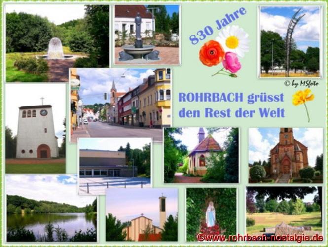 Eine von der Rohrbacher Hobbyfotografin Marietta Schwarz gestaltete Fotocollage anlässlich des 830. Geburtstages Rohrbachs