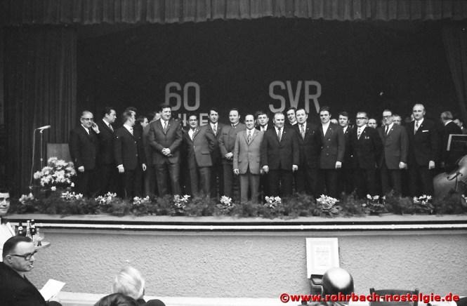 1971 Die geehrten Mitglieder des SVR anlässlich des 60-jährigen Bestehens