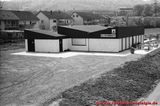 Am 11. Mai 1979 wird das Sportheim in den Königswiesen eingeweiht