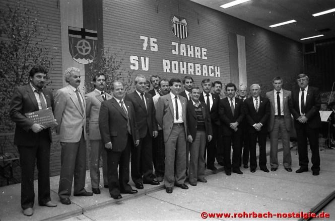 1986 Ehrungen bei dem 75-jährigen Bestehen des SVR