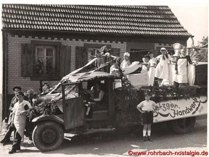 Der Wagen des Metzgerhandwerks Rohrbach