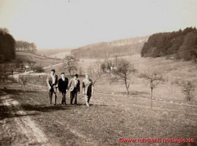 So sieht das Gebiet des heutigen Weihers um 1960 aus