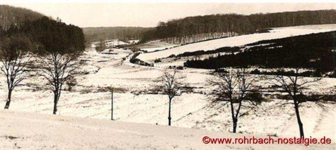 Um 1958 Blick ins Glashütter Tal von St.Ingberter Seite gesehen