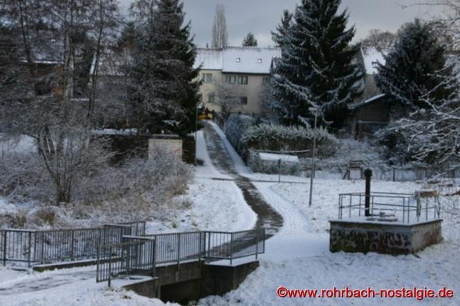 """Brücke am Verbindungsweg zwischen Spieserstraße und """"Im alten Tal"""" (früher Wiesenstraße)"""