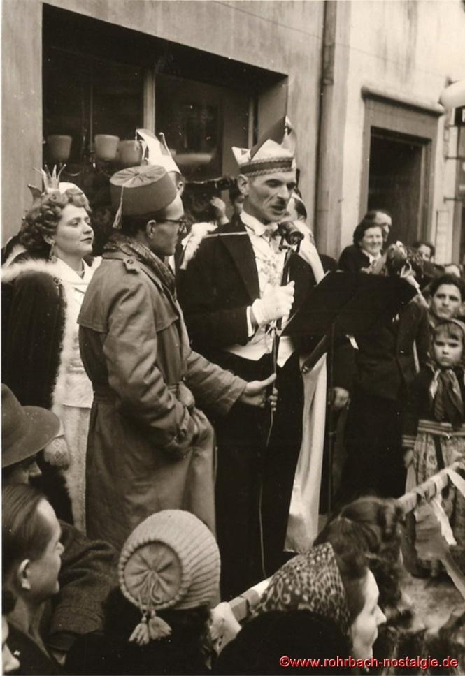 Prinz Artur I. von Finkendahlheim wendet sich an die Rohrbacher Bevölkerung