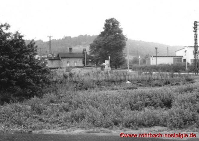 Blick auf den Rohrbacher Bahnhof