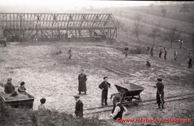 Um 1937 Bau eines Schießstandes am Mühlenwäldchen