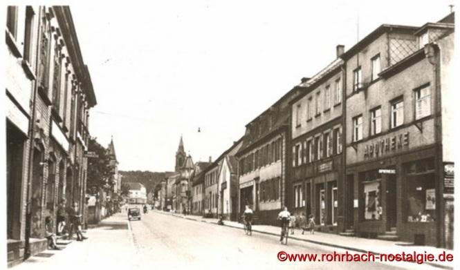 1918 Die Kaiserstraße von der früheren Bäckerei Emanuel Haberer aus gesehen