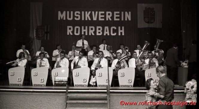 1973 Die Bläsergruppe des neugegründeten Musikvereins